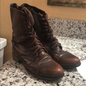 steve madden troopa combat lace up boots size 7.5